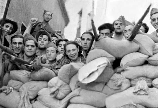 Spain-barricade