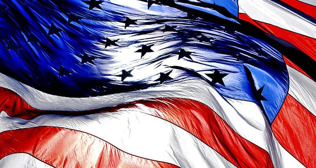 American-Flag-in-the-Sun