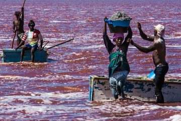 lake retba senegal