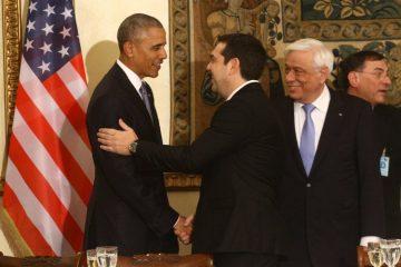 Ο Α.Τσίπρας με τον Μπ.Ομπάμα