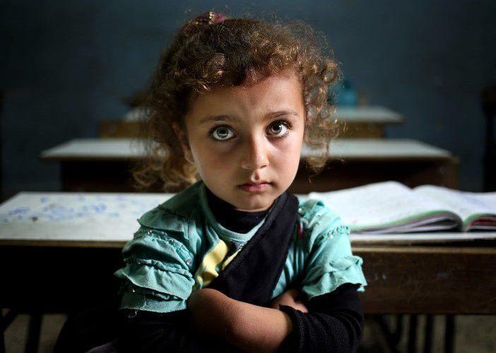 school children refugees