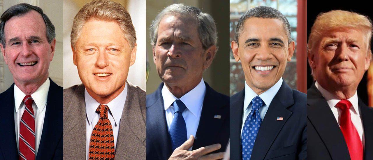 bush obama clinton trump