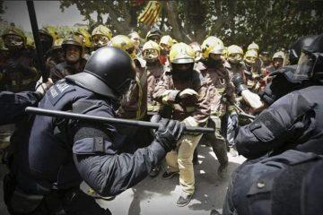 καταλονία πυροσβέστες