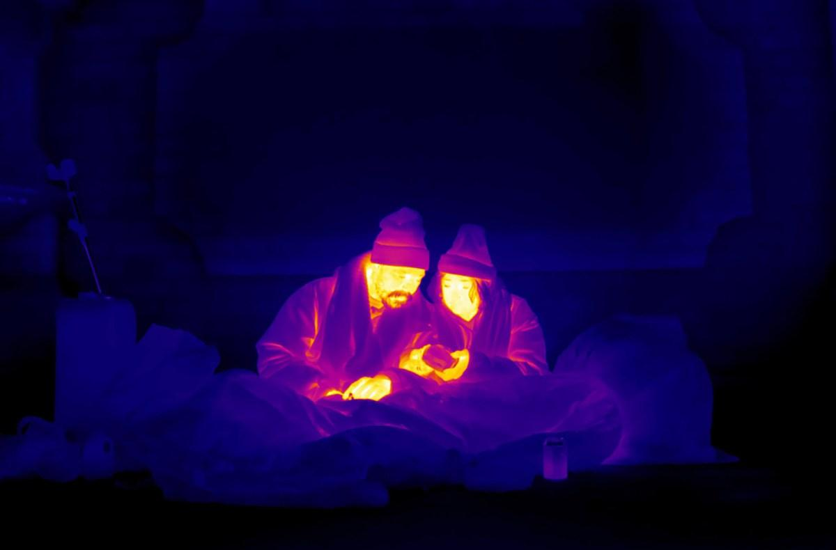 Αποτέλεσμα εικόνας για Οι άστεγοι του Λονδίνου μέσα από μία θερμική κάμερα...