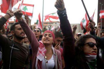 οι μαζικές διαδηλώσεις στον Λίβανο ανάγκασαν σε παραίτηση την κυβέρνηση Χαρίρι