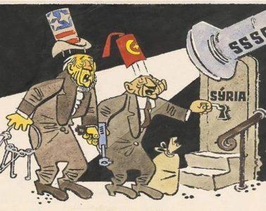 σκίτσο Τουρκία Συρία ΗΠΑ ΕΣΣΔ