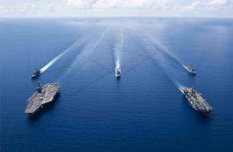 Κίνα, Θάλασσα της Νότιας Κίνας, ΗΠΑ