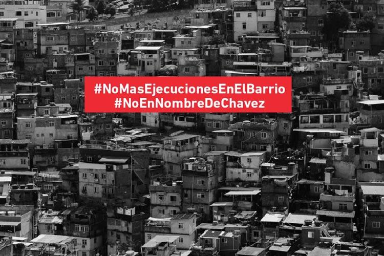 κρατικές δολοφονίες Βενεζουέλας Όχι στο όνομα του Τσάβες