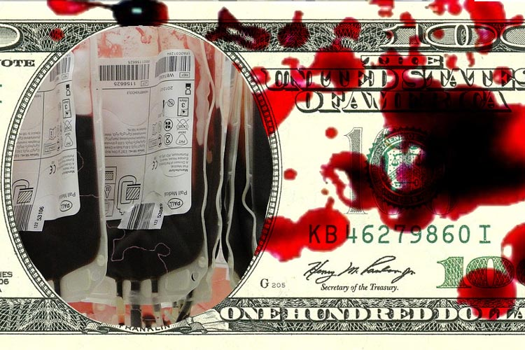 αίμα εμπόριο ΗΠΑ φτωχοί