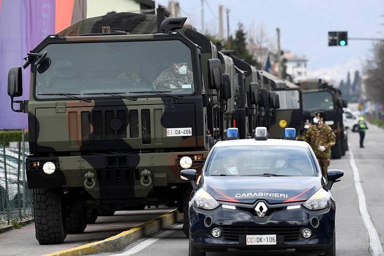 ρωσικός στρατός ιταλία κορονοϊός