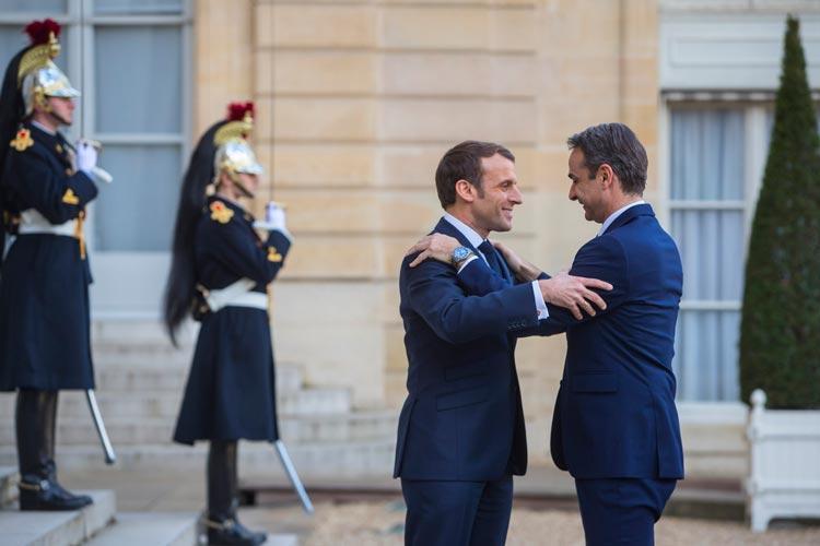 Ελλάδα Γαλλία Μακρόν Μητσοτάκης κορονοϊός