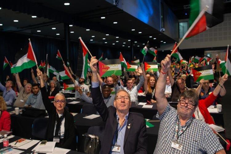 Συνομοσπονδία συνδικαλιστικών οργανώσεων Ισραήλ απαρτχάιντ Παλαιστίνη