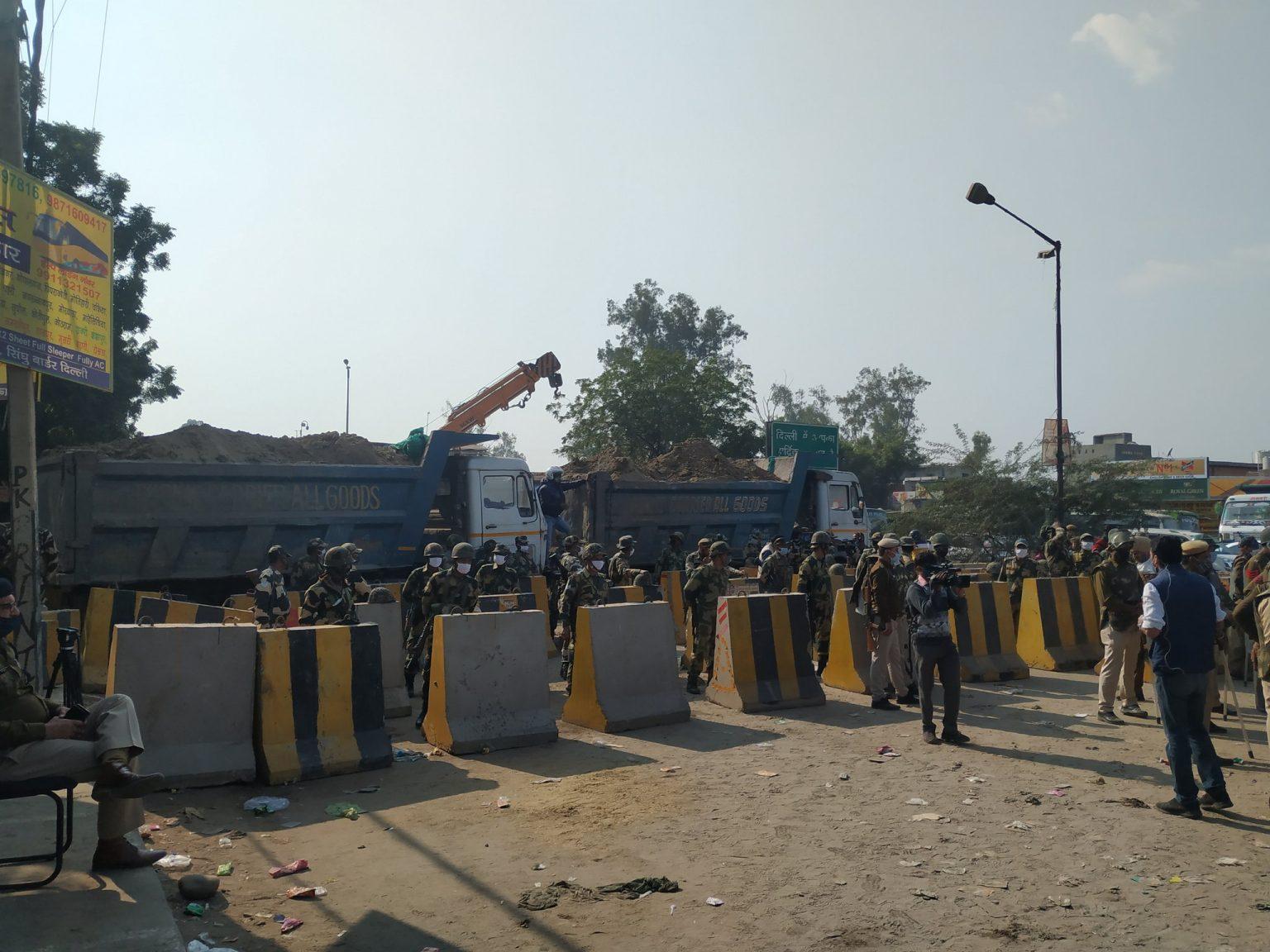 Ινδία απεργία οδόφραγμα