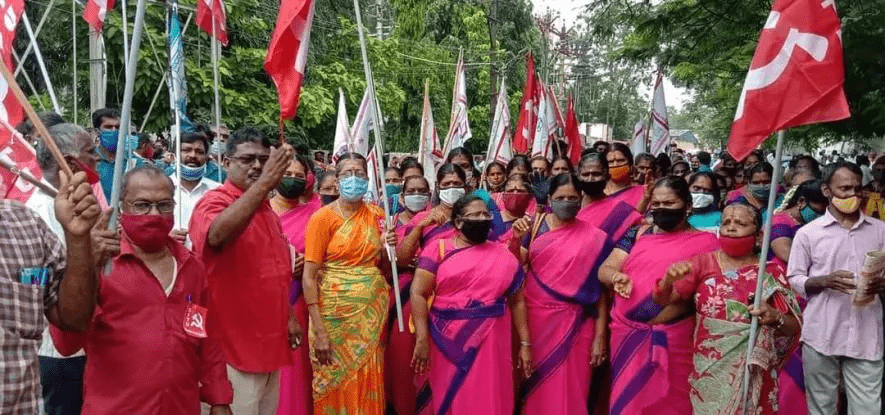 Ινδία απεργία υφαντουργία