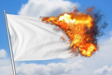 σημαία κάψιμο