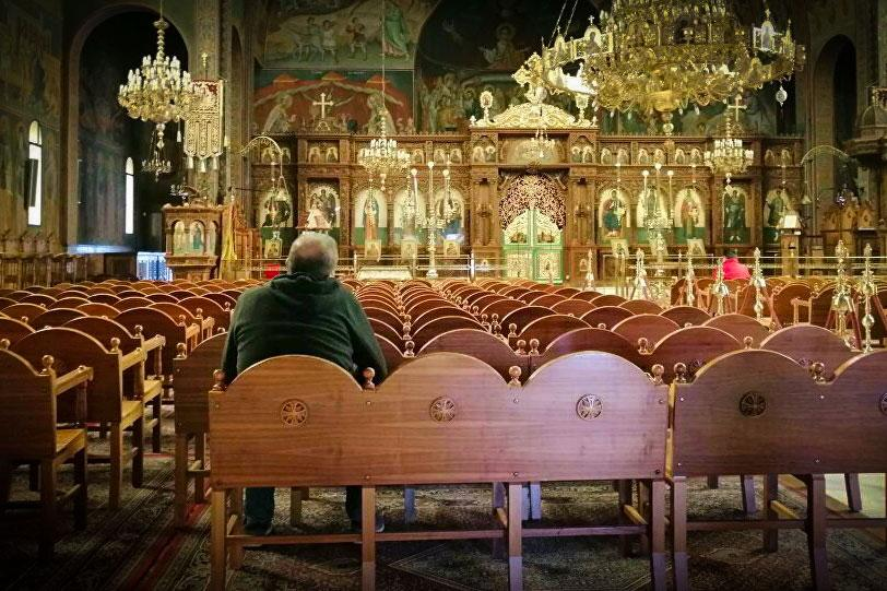άδεια εκκλησία ναός πάσχα